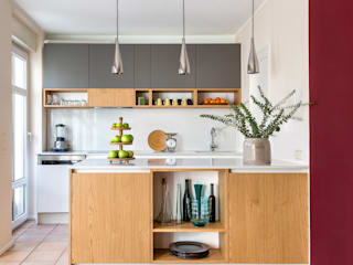 CONSCIOUS DESIGN - INTERIORS Built-in kitchens Quartz Multicolored