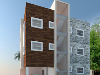 Elevation Designs in Hyderabad Asian style houses by Sky architects Asian