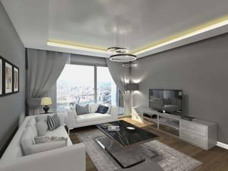 现代客厅設計點子、靈感 & 圖片 根據 Orby İnşaat Mimarlık 現代風