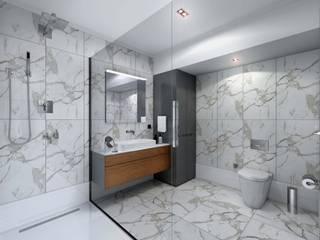 İç mekan - 3 boyutlu görsel Modern Banyo Orby İnşaat Mimarlık Modern Granit