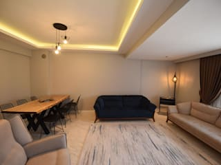 Locaefes Projesi, C Tipi daire salonu Modern Oturma Odası Orby İnşaat Mimarlık Modern Beton