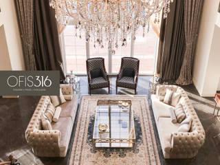 Batı Mahal Malikaneleri Klasik Oturma Odası OFİS316 TASARIM PROJE UYGULAMA Klasik