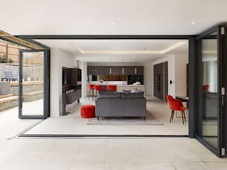 Luxurious Kitchen / TV area designed and installed in a new housing development by PTC Kitchens Modern