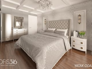 Eclectic style bedroom by OFİS316 TASARIM PROJE UYGULAMA Eclectic