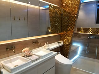 Baño Rodadero Sur Baños de estilo minimalista de CAMALEON DISEÑOS Minimalista