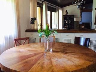 Casa de Campo Salas de jantar campestres por Danielle David Arquitetura Campestre