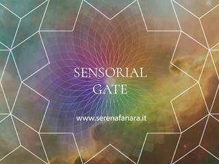 Sensorial Gate - Lampada Mandala Cromoterapica Soggiorno moderno di SeFa Design by nature Moderno