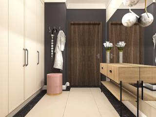 Classic style corridor, hallway and stairs by ANNA HIRSZBERG 'HIRSZBERG' PRACOWNIA ARCHITEKTONICZNA Classic