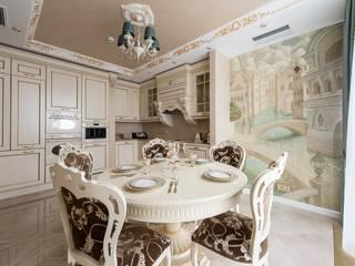 Дизайн проект пентхауса ЖК Айвазовский Кухня в классическом стиле от Studio Design-rise Классический