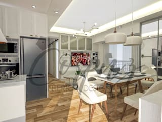 3- Bedroom Condominium Unit:  Kitchen by Corpuz interior design