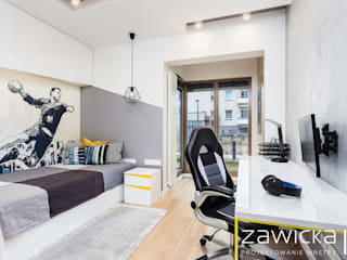 ZAWICKA-ID Projektowanie wnętrz Habitaciones para niños de estilo moderno