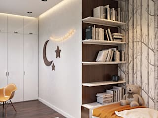 Квартира в ЖК «Лётчика Бабушкина 17» от 'INTSTYLE' Скандинавский Дерево Эффект древесины
