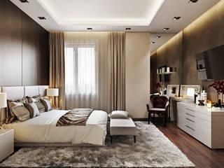 Квартира в ЖК «Лётчика Бабушкина 17» Спальня в скандинавском стиле от 'INTSTYLE' Скандинавский Дерево Эффект древесины