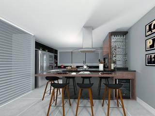 Área Gourmet: Cozinhas  por Projeto 3D Online