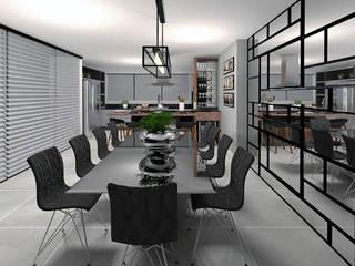 Área Gourmet Cozinhas modernas por Projeto 3D Online Moderno