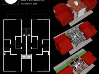 ESQUEMA ARQUITECTURA Single family home Concrete White