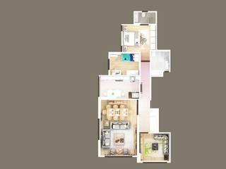 ERENKÖY DAİRE PROJESİ Saha iç mimarlık ofisi Modern