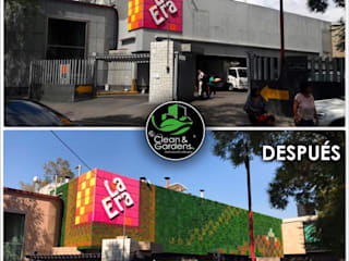 MURO VERDE CORPORATIVO:  de estilo  por Clean and Gardens SA de CV