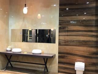 Tiles Showroom:  Corridor & hallway by M DEZIGN,