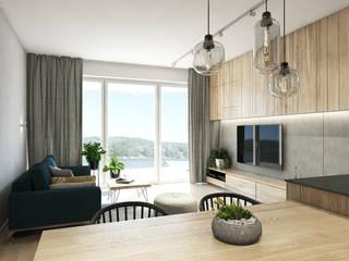 Apartament w Bielsku-Białej Nowoczesny salon od TIKA DESIGN Nowoczesny