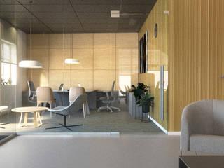 Projekt wnętrza biurowca.: styl , w kategorii Biurowce zaprojektowany przez TIKA DESIGN