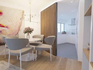 Apartamento T2 Braga: Salas de jantar  por Fachada Arquitectos,Moderno