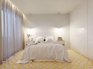 Apartamento T3 Braga:   por Fachada Arquitectos,Moderno