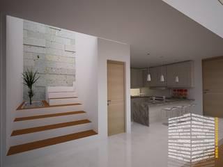 Corridor & hallway by HHRG ARQUITECTOS