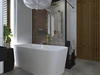 dom//140m Nowoczesna łazienka od TOTAMSTUDIO pracownia architektury wnętrz Nowoczesny