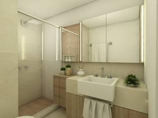 Apartamento jovem casal: Banheiros  por CG arquitetura e interiores,Moderno
