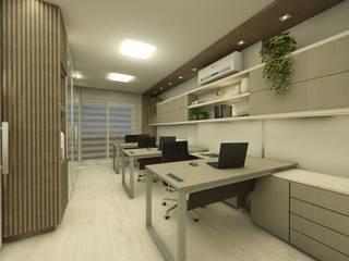 Escritorio corporativo: Escritórios  por CG arquitetura e interiores,Minimalista
