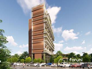 FORUNI Residencias para estudiantes de la UANL:  de estilo  por Well Arquitectura