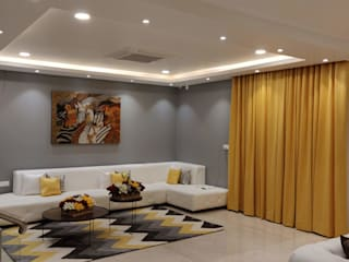 Villa #4 , Pavani Boulevard - Turn Key Project Interior Modern living room by Enrich Interiors & Decors Modern