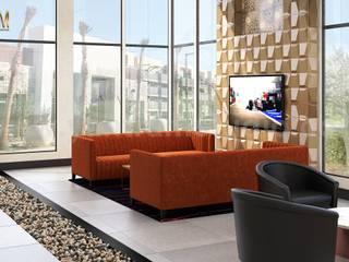 Modern Video Game, Wine Room & Impressive lobby Ideas to enhance Interior Design Studio by Architectural Animation Services, Vegas – USA Yantram Architectural Design Studio Modern