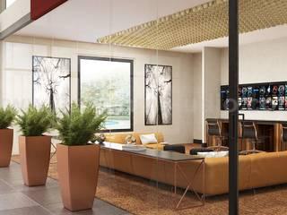 Modern Video Game, Wine Room & Impressive lobby Ideas to enhance Interior Design Studio by Architectural Animation Services, Vegas – USA Modern Koridor, Hol & Merdivenler Yantram Architectural Design Studio Modern