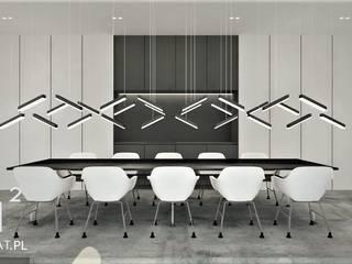 Projekt biura Pracowni Projektowania Wnętrz Wkwadrat Architekt Wnętrz Toruń Przestrzenie biurowe i magazynowe Beton Biały
