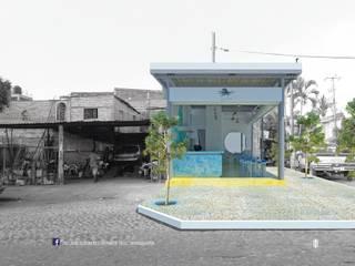 TACO MARISQUERÍA RESTAURANTE | PUERTO VALLARTA Balcones y terrazas modernos de TALLARQ Moderno