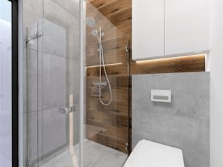 Bathroom by Wkwadrat Architekt Wnętrz Toruń