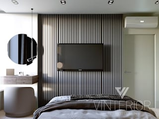 Minimalizm Minimalist bedroom by Vinterior - дизайн интерьера Minimalist