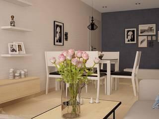 Thiết kế nội thất chung cư 75m2 - chung cư CT36 Định Công:   by NỘI THẤT XINH
