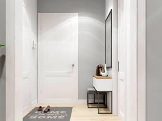 Дизайн-проект двухкомнатной квартиры по ул. Олешева г. Минск Коридор, прихожая и лестница в скандинавском стиле от BOHO DESIGN Скандинавский