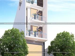 Thiết kế nhà rộng 5m dài 15m bởi Công ty cổ phần tư vấn kiến trúc xây dựng Nam Long