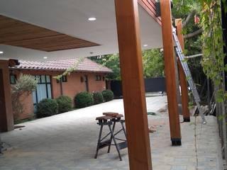 Projekty,  Dach płaski zaprojektowane przez eco cero - Arquitectura sustentable en Talca, Nowoczesny