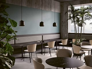 Samu, sistema di basi e piani tavolo di BARTOLI DESIGN Moderno