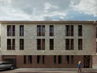 Renders para edificio residencial de Visualfabrik Minimalista