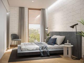 Diseño interior 3D en Madrid Dormitorios de estilo moderno de Visualfabrik Moderno