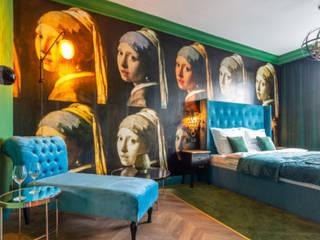 livinghome wnętrza Katarzyna Sybilska Hoteles de estilo moderno Verde