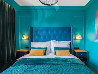 apartament w sercu miasta w kolorach green livinghome wnętrza Katarzyna Sybilska Hotele Zielony