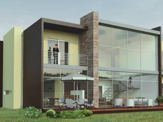 VIVIENDA CAMPESTRE DE DOS PISOS: Conjunto residencial de estilo  por IAA LTDA,