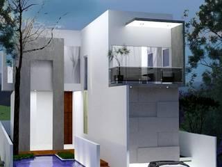 ESTUDO PROJETO APROVADO Casas modernas por SAULO BARROS arquitetos Moderno